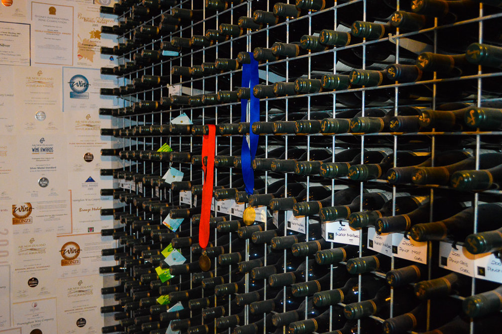 wine in large wine rack