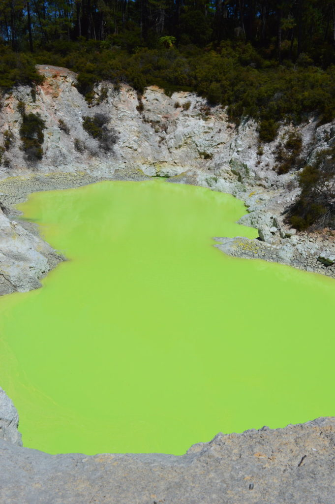 lime green geothermal pool