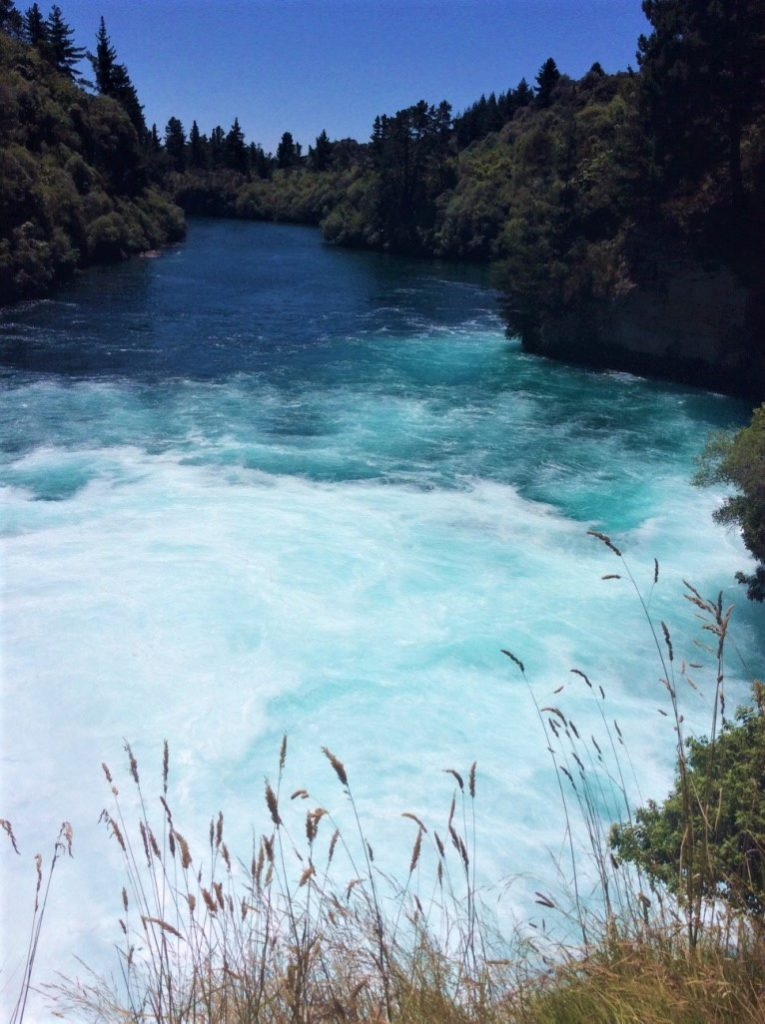fast flowing aqua blue river