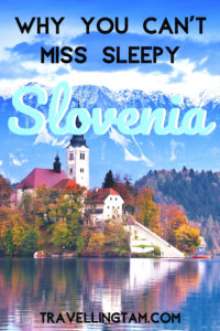 lake bled in slovenia pinterest graphic