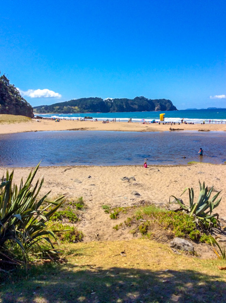 hot water beach in new Zealand