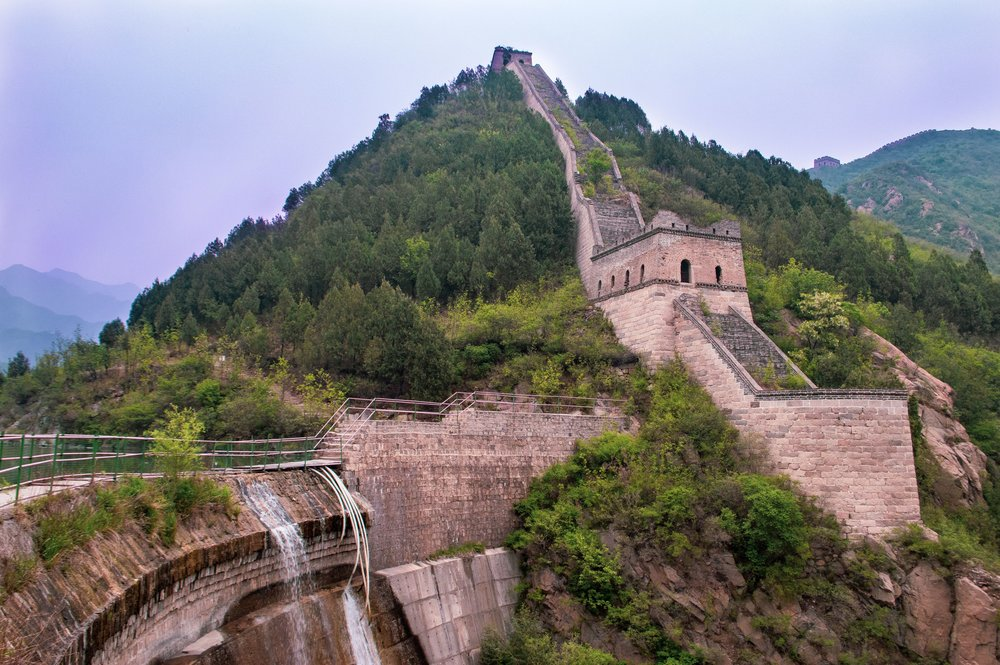 dam by the great wall of china