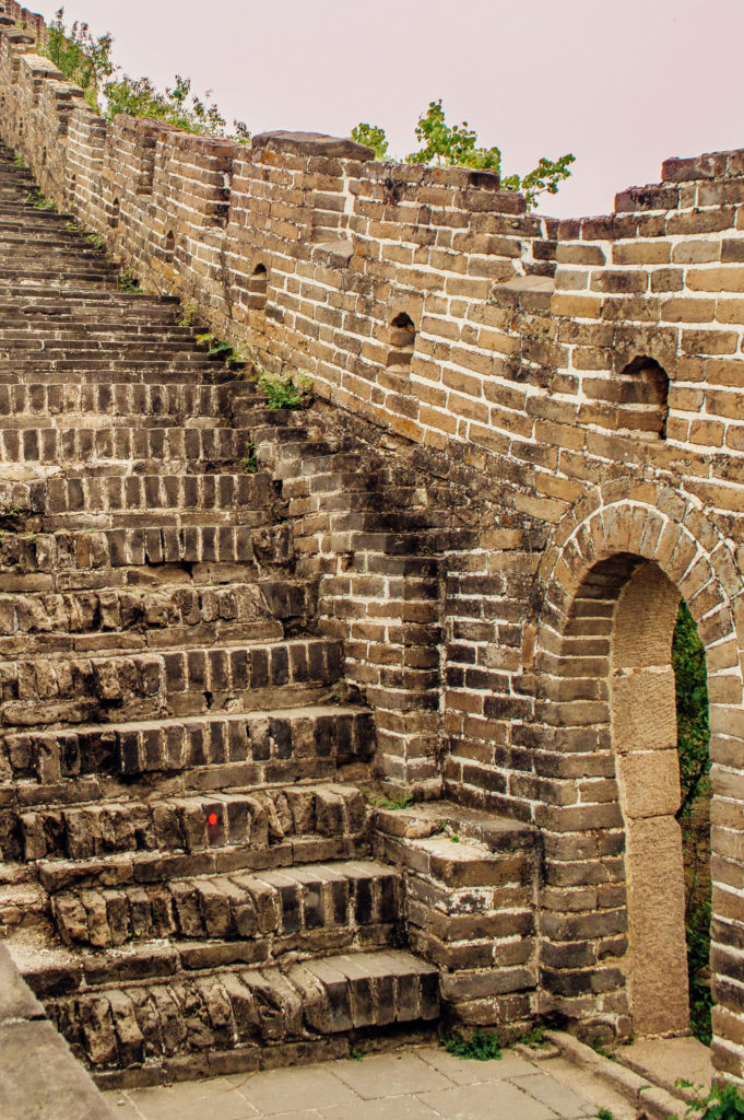 steep brick steps at great wall of china