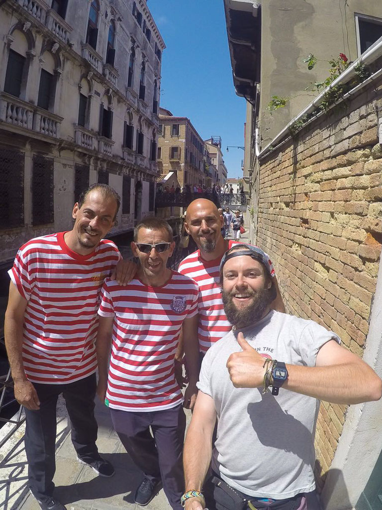 selfie with locals in venice