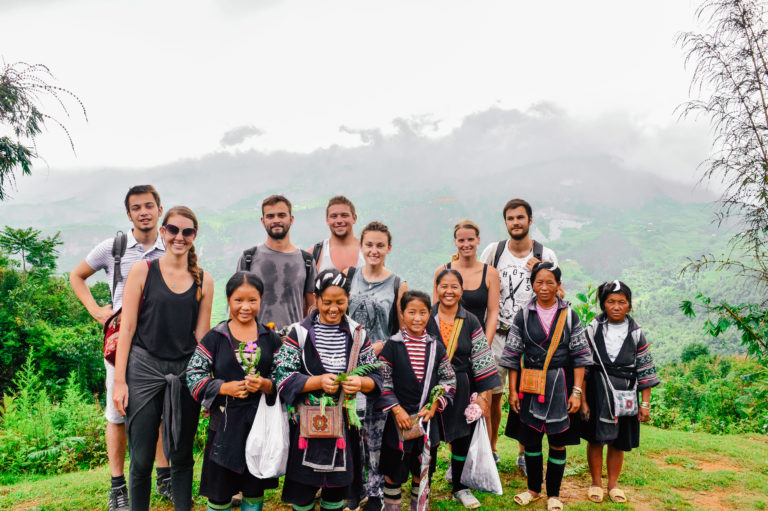 sapa group picture with locals