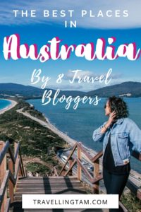 Recommended travel destinations in states across Australia