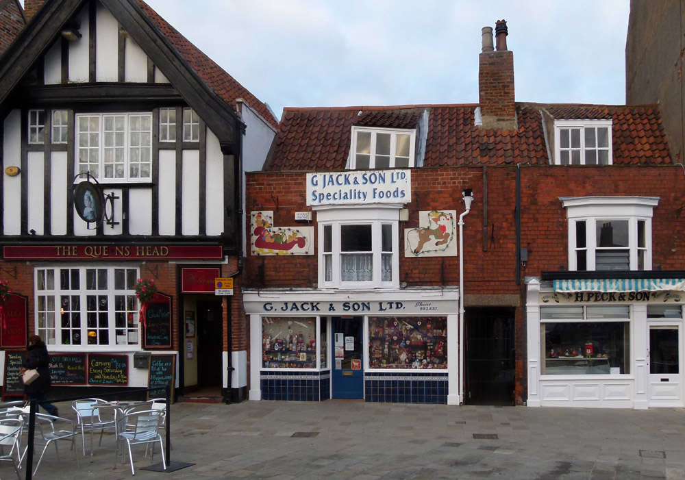 high street of beverley with shop fronts