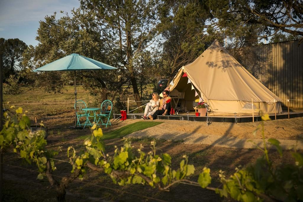 glamping at wineries in Victoria