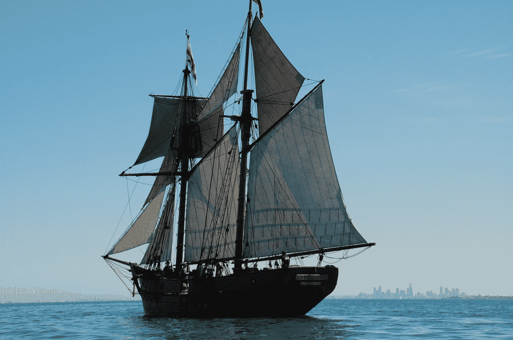 historic tall ship sailing on sea in Melbourne
