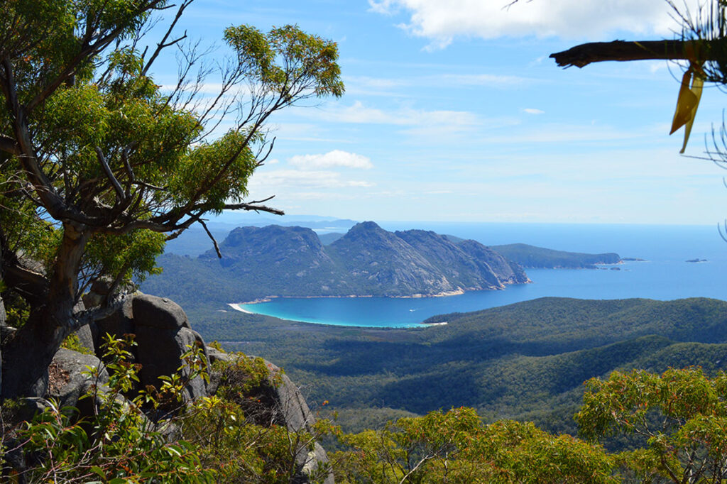 The view from the Freycinet Peninsular Circuit hike