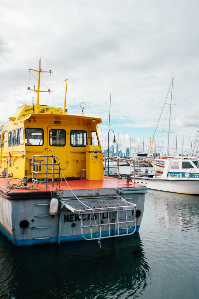 boats in Williamstown Harbour