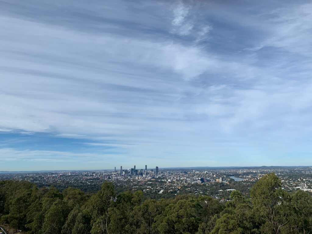 view from the top of mt coot-tha