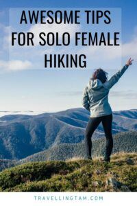 hiking advice for solo female hikers