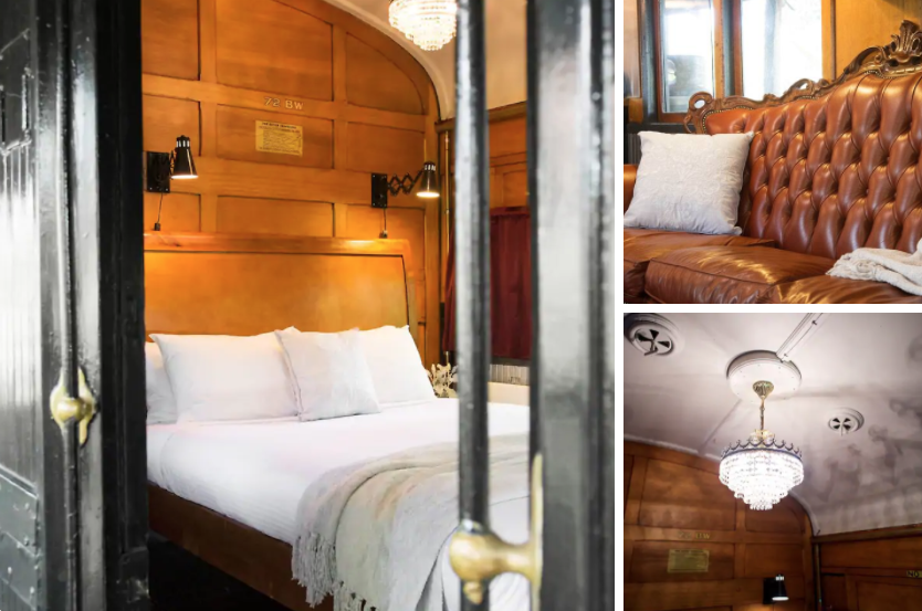 pictures of train carriage accomodation in the Otways National Park