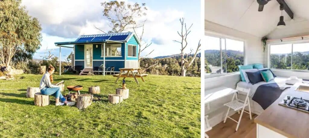 rural tiny house in yarra ranges