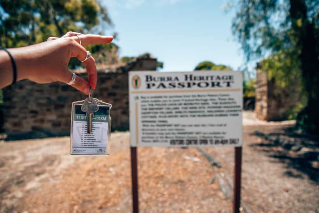 key to Burra Passport historic locked sites