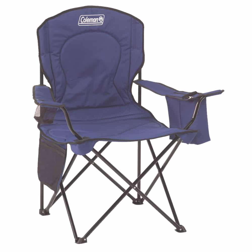 blue foldable camping chair