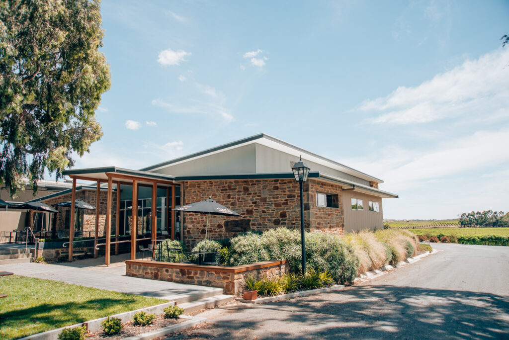 the front of Pikes Winery building