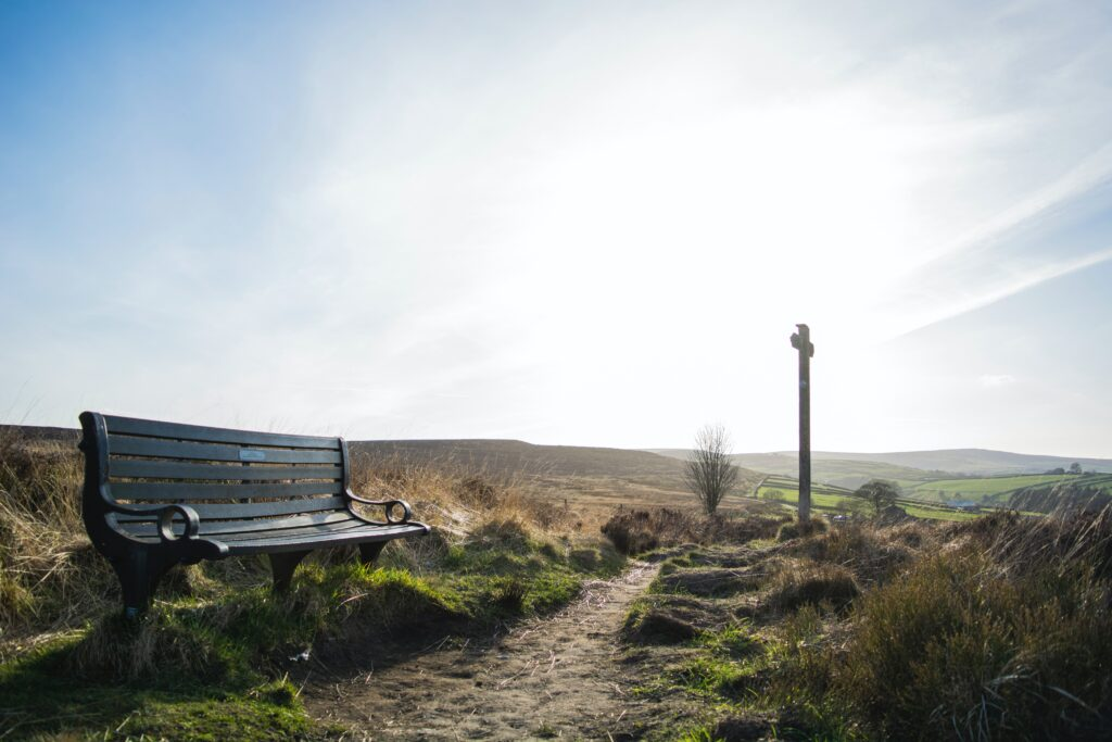 bench on North Yorkshire Moors