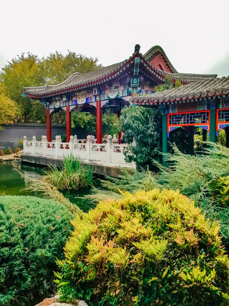 shrubbery and chinese temple in Bendigo